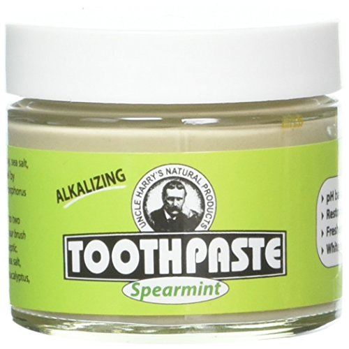Uncle Harry's Natural & Fluoride Free Toothpaste – Spearmint (3 Oz Glass Jar)