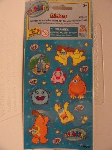 Webkinz Stickers - Includes an Exclusive Online Gift for Your Webkinz Pet