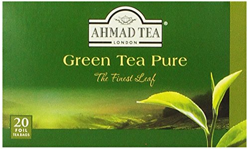 Ahmad Tea Green Tea Pure, 20-Count Boxes (Pack of 6)
