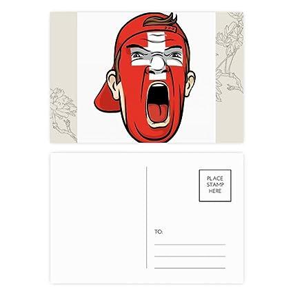 DIYthinker Suiza Bandera de maquillaje facial que grita Flor ...