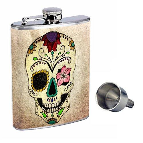 【売れ筋】 シュガースカルPerfection inスタイル8オンスステンレススチールWhiskey Funnel Flask Flask with Free with Funnel d-010 B01669TU04, Interplay:06d95d95 --- portfolio.studioalex.nl