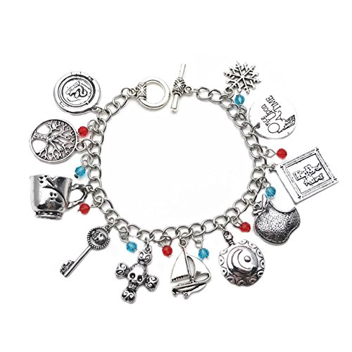 Athena Brand Once Upon a Time Fairy Tale Charm Bracelet Quality Cosplay Jewelry Cartoon Comic TV Series with Gift Box ()