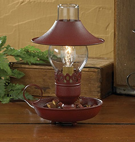 Red Chamberstick Lamp with Shade by PHD - FBA