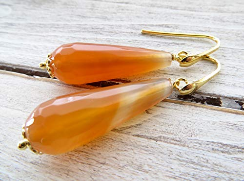 s, gold plated 925 sterling silver earrings, dangle earrings, contemporary jewelry, gemstone jewelry, italian jewelry ()