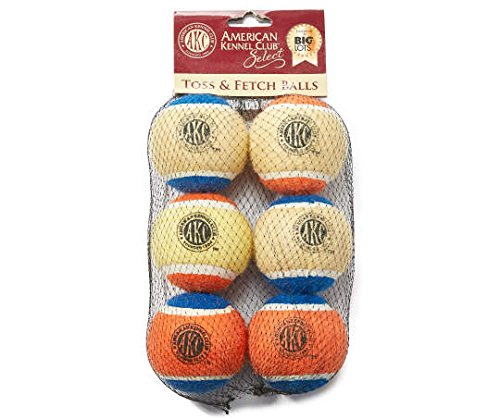 AKC Select Toss & Fetch Balls, 6-Pack