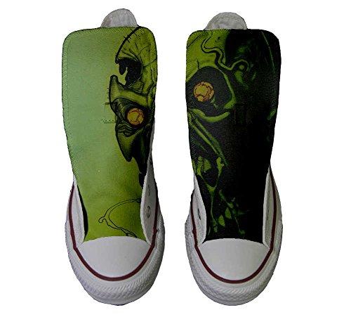 Converse All Star zapatos personalizados Unisex (Producto Artesano) el horror del cráneo
