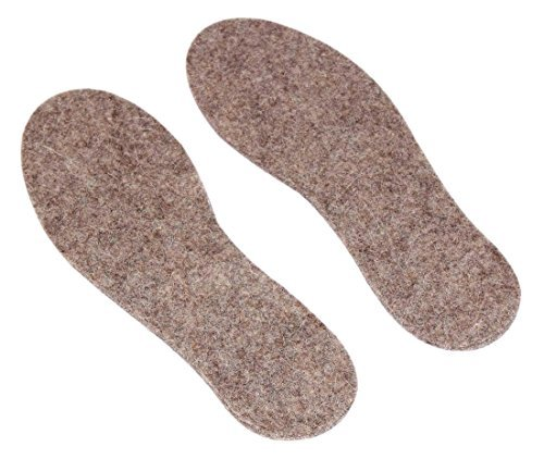 Wool Shoe Insoles Grey Cushioned Shock-Absorbing Shoe and Boot Inserts for Men Size (UK-12.5)(US-13)