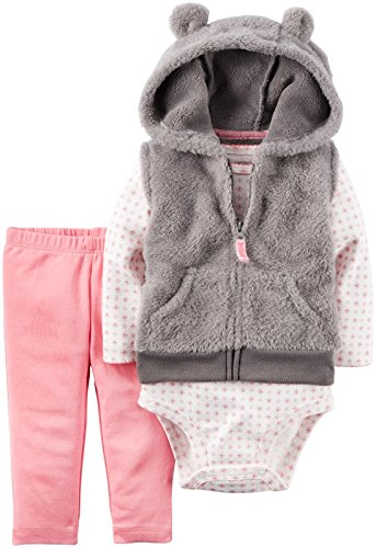 Carters Baby Girls 3 Piece Hooded