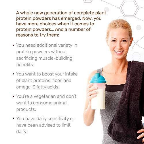 Dr. Mercola Vegan Protein Chocolate - Perfect Blend Of Pea, Hemp, Chia, Chlorella & Potato Proteins - Gluten-Free - Naturally Flavored - 1 lb 6.5 oz (750g) by Dr. Mercola (Image #3)