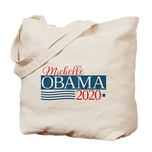 CafePress - Michelle Obama 2020 - Natural Canvas Tote Bag, Cloth Shopping Bag