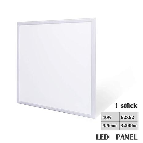 Lámpara de techo LED panel de luz 40W 62x62cm Ultra-delgado ...