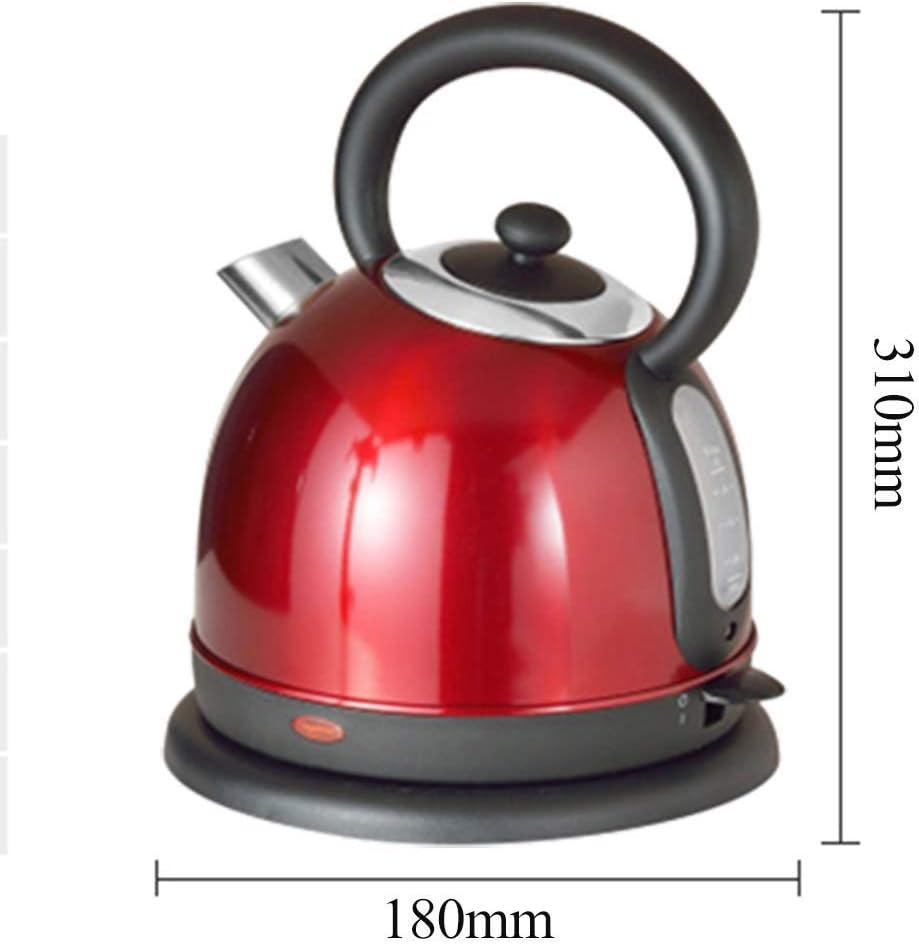 1 8 l Retro Printing Wasserkocherkabelloser Wasserkocher 2500 WattWasserkocher mit Innendeckel und Boden aus EdelstahlAuto-Off- und Boil-Dry-Schutz Wasserkocher Gold Red