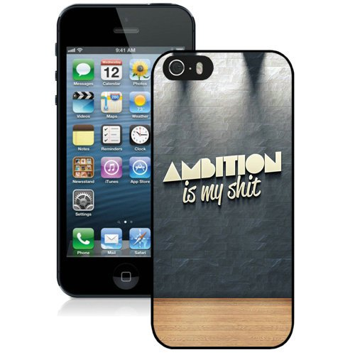 Coque,Fashion Coque iphone 5S Ambition Noir Screen Cover Case Cover Fashion and Hot Sale Design