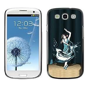 TopCaseStore / la caja del caucho duro de la cubierta de protección de la piel - Dance In the Spotlight - Samsung Galaxy S3 I9300