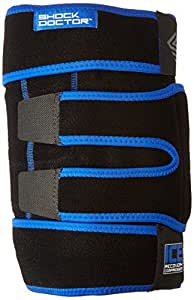Shock Doctor Ice Recovery Compression Knee Wrap, Black, Small/Medium