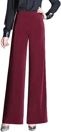 Genericwomen Pantalones De Vestir Para Mujer Con Cintura Alta Pierna Ancha Corte De Bota 2 32 Amazon Com Mx Ropa Zapatos Y Accesorios