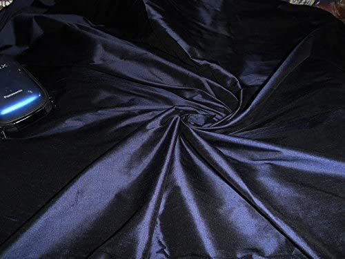 DUP72 1 puresilks 100/% Pure Silk Dupioni Fabric Navy Blue 54