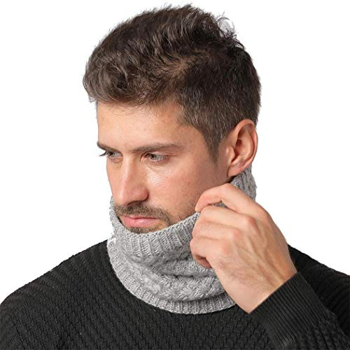 Kaimu Winter Warm Knitted Collar Men Women Velvet Comfortable Scarf Cold Weather Scarves Wraps