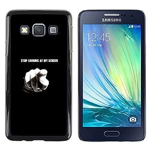 EJOY---Cubierta de la caja de protección la piel dura para el / Samsung Galaxy A3 / --Pare el mirar de mi pantalla