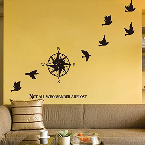 BIBITIME-Vinyl-Compass-Wall-Decal-Stickers-N-S-W-E-Direction-indicator-Sign-Home-Mural-Bedroom-Kids-Room-Decor