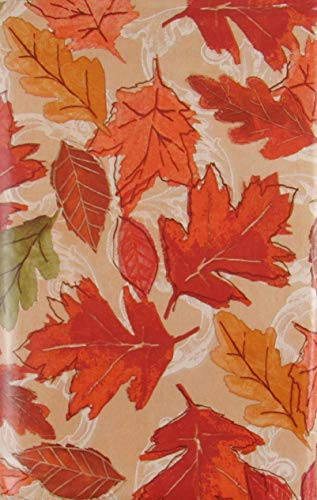 - Autumn Leaves on Maple Vinyl Flannel Back Tablecloth (52