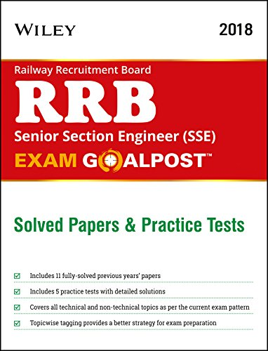 Wiley's Railway Recruitment Board (RRB) Senior Section Engineer (SSE) Exam Goalpost, Solved Papers and Practice Tests