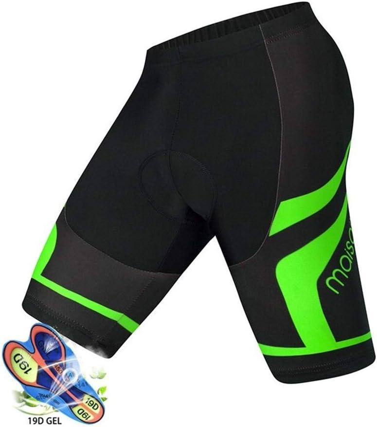 QWERBAN Cuissards Hommes 19D Anti Slip Rembourr/é Gel Bike Short VTT V/élo De Montagne Classique Antichocs Pantalon Court