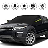 WOKOKO Car Windshield Snow Cover, Ice Snow Frost Cover for Windscreen, Thicker Waterproof Windshield Cover Fits for Most Cars and SUV