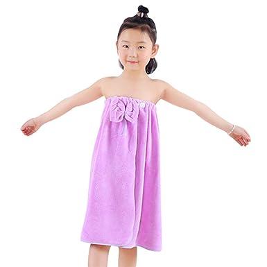 Jiyaru Infantil Falda de baño Banda de cabeza Toalla para ninos de bano Púrpura: Amazon.es: Ropa y accesorios