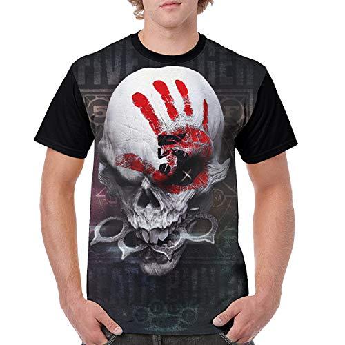 ByronJRivera Mans Five Finger Death Punch Hip Hop Printed Short Sleeve T-Shirt 3XL