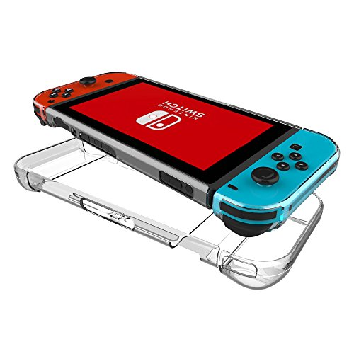 FastSnail Nintendo Switch Case, Transparent Hard Back Cover for Nintendo Switch, Shock-Absorption and Anti-Scratch