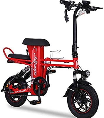 FJW Unisexo Mini Bicicletas Eléctricas 12