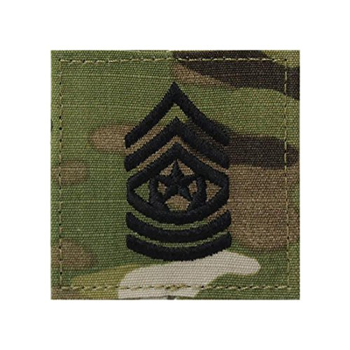 Multicam OCP Rank Insignia With Fastener (COMMAND SERGEANT (Command Sergeant Major Of The Army)