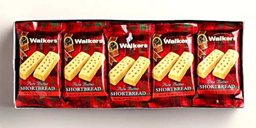 Walkers Pure Butter Shortbread Fingers Snack Packs 20 X 2 (568 g./ 20 (Butter Shortbread)