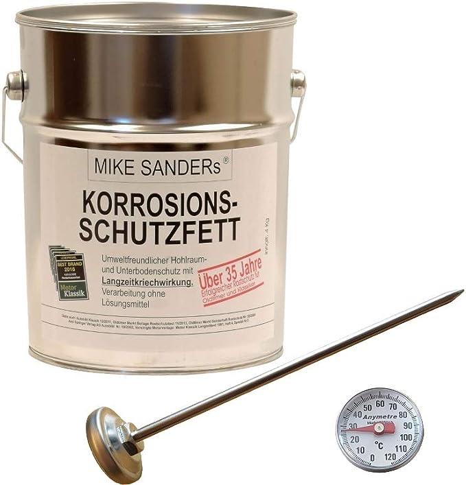 4kg Mike Sanders Korrosionsschutzfett Thermometer 120 C Hohlraumversiegelung Baumarkt