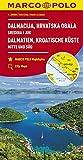 Dalmatie, Cote Croate - Centre et Sud 1 : 200 000