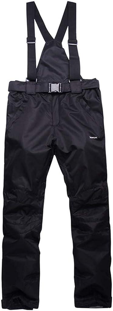 Zeraty Adult Snow Pants Men Women Ski Pants Waterproof and Breathable Polyester Snow Bib Winter Outdoor Snowboarding Black: Clothing