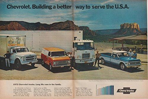 1972 CHEVROLET FLEETSIDE PICKUP, TITAN 90, CHEVY VAN & SERIES 50 CONVENTIONAL CAB
