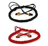 2 pc handmade kabbalah red string bracelet - wear for prosperity and success