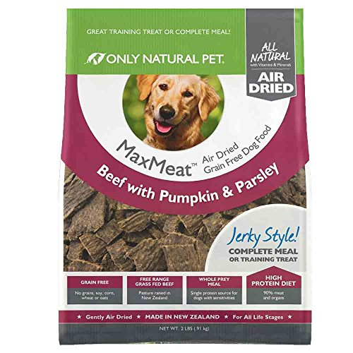 Only Natural Pet MaxMeat Holistic Grain-Free Air Dried Dry Dog Food - Made with Real Meat - Beef with Pumpkin & Parsley 2 lb