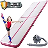 Cosy Life Inflatable Gymnastics Tumbling Training Mats Air Track with Electric Air Pump for Acrobatics Home Use Lawn Patio Park Beach Fitness Backflips Yoga Taekwondo Exercise Mat (9.84ft3.28ft)