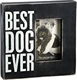 "Primitives by Kathy 19136 Photo Box Frame, 10"" x 10"", Best Dog Ever"