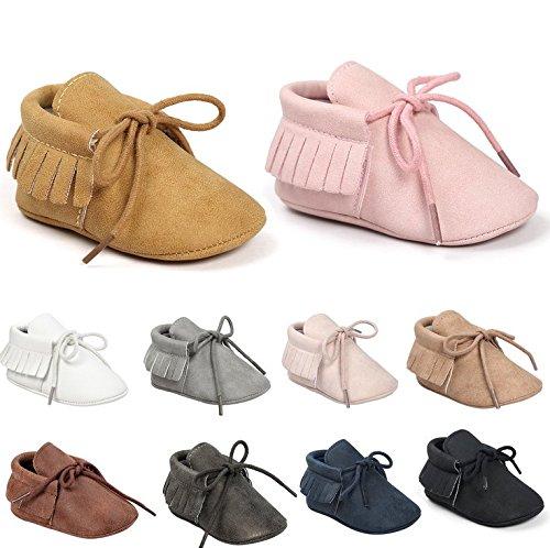 Sabe First Walkers - Unisex Baby Boys Girls Moccasins Soft Sole Tassels Prewalker Anti-Slip Loafer Shoes