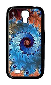 Samsung S4 Case,VUTTOO Cover With Photo: Spiral Rotation Multi Colored Circle For Samsung Galaxy S4 I9500 - PC Black Hard Case