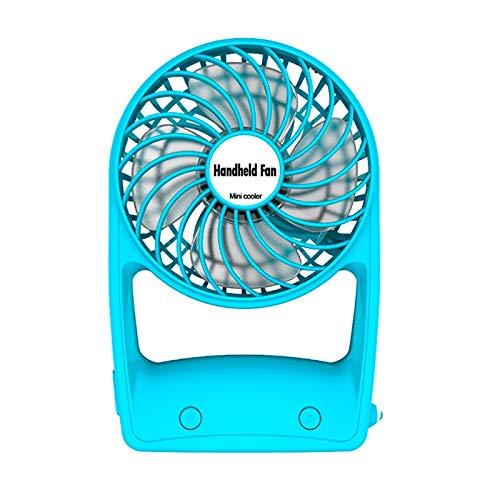 超格安一点 Mifeerミニハンドヘルドファン、ポータブル個人用充電式デスクトップファン、USBバッテリー付き、事務室屋外用家庭用旅行 (Color HIGH QUALITY B07QQKJJTB (Color : HIGH Blue) Blue B07QQKJJTB, Occhio Graphic:93c36c1b --- arianechie.dominiotemporario.com