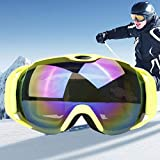 VAXT Lead H012 Unisex Duple Layers Wide View Anti-Fog Windprooof UV Protection Spherical Goggles with Adjustable Strap (SKU : Og5220j)