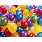 Tiger 50045 Metallic Plain Large Balloon Multicolor (Pack of 50)