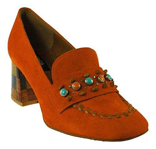 Loafer Flats Arancione Velour Orange Zinda Women's 2785 qwpUgfRU6