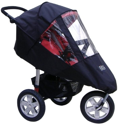 Tike Tech Single City X3 All Season Stroller Cover, Black/Clear by Tike Tech
