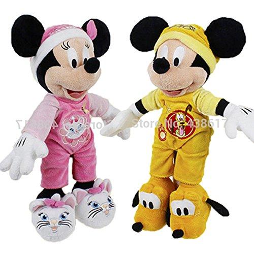 Original Goodnight Mickey Mouse Pluto Minnie Mouse Marie Pajamas Outfit Pelucia Plush Baby Kids Toys 18